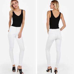 NWT Express High-Rise Denim Perfect White Jeans 0